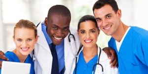 smiling healthcare workers, healthcare, staffing, healthcare careers, healthcare jobs, jobs, work, careers, types of healthcare careers, united medevac solutions, ums