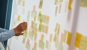 sticky notes on board, goal setting, new years resolutions, new years resolutions for your business, goal setting in business