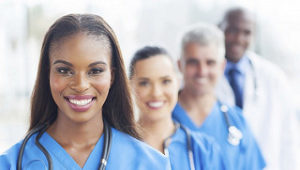photo of healthcare workers smiling, nurses, doctors, healthcare jobs available, healthcare jobs, healthcare staffing, nursing jobs, nursing staffing, staffing