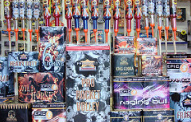 fireworks in firework stand to be sold, fireworks, firework safety, firework safety tips, 4th of july fireworks